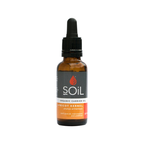 SOiL Organic Apricot Kernel Oil 30ml-Just Beauty Organics Store
