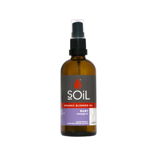 SOiL Organic Baby Massage Oil 100ml-Just Beauty Organics Store