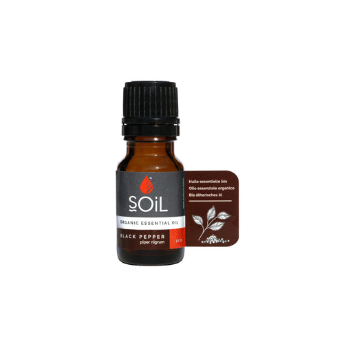 SOiL Organic Black Pepper Essential Oil 10ml-Just Beauty Organics Store