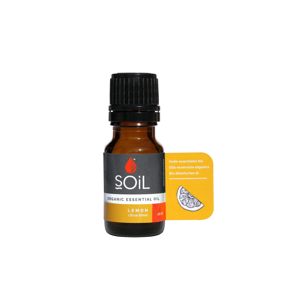 SOiL Organic Lemon Essential Oil 10ml-Just Beauty Organics Store