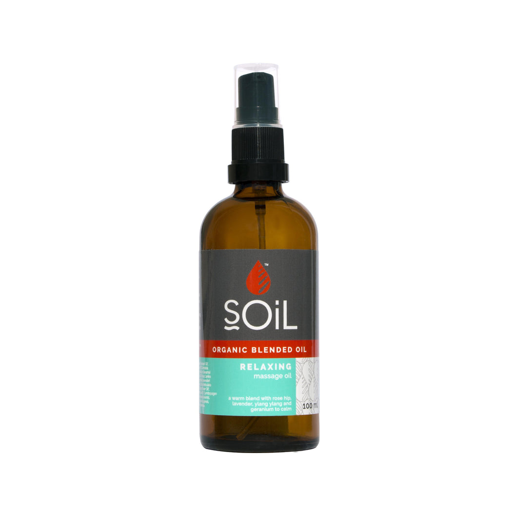 SOiL Organic Relaxing Massage Oil 100ml-Just Beauty Organics Store
