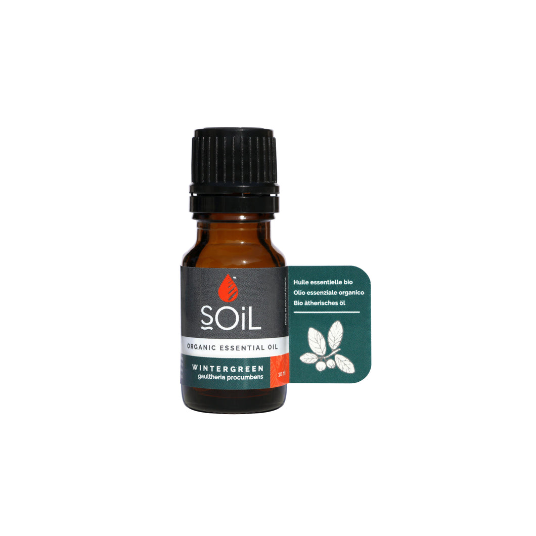 SOiL Organic Wintergreen Essential Oil 10ml-Just Beauty Organics Store
