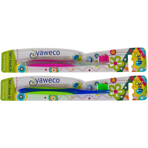 Yaweco Childrens Toothbrush 3yrs + 1 pack-Just Beauty Organics Store