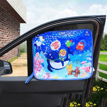 Load image into Gallery viewer, Baby Car Cartoon Window Sunshade Curtain Universal Car Side Window Sunshade Curtain Adjustable Magnetic Summer Shade UV Foils