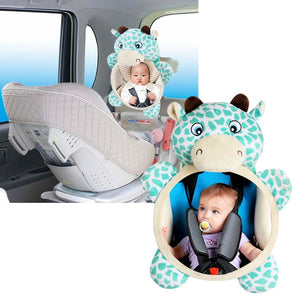 Baby Car Safety Seat Rear Facing Mirrors Safety Car Back Seat Baby Easy View Mirror Adjustable Useful Infant Car Safety Seat Toy
