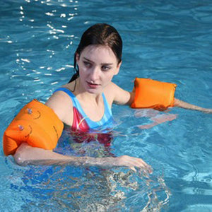 1 Pair Swimming Band Arm Ring Floating Inflatable Adult Children Sleeves Summer