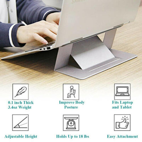 1pc Portable Heightening Radiator Rack Folding Base Frame Adjustable Tablet Bracket Notebook Slim Invisible Bracket Desktop