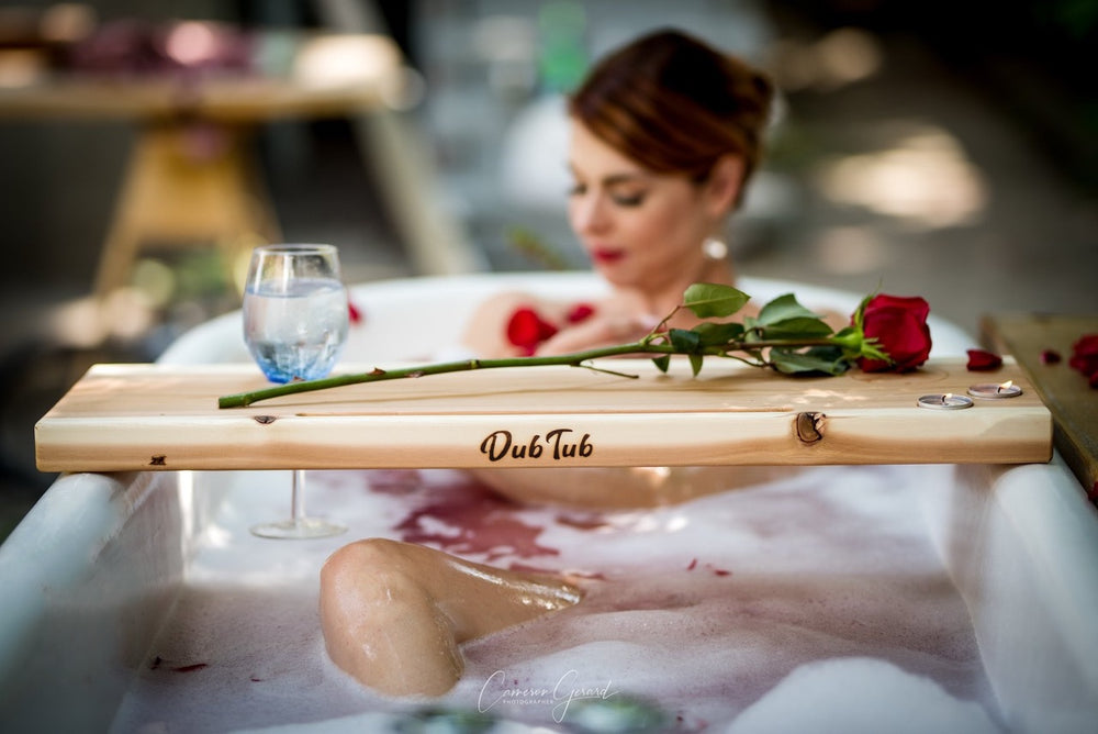 DubTub Bath Caddy Board with Victoria Rose