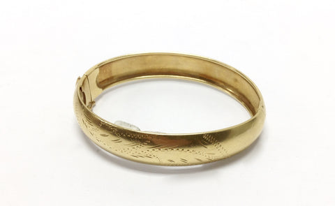 18KT Yellow Gold Bangle Bracelet