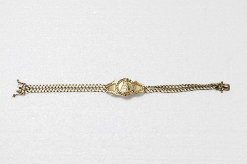 Men's Saints Gold Bracelet