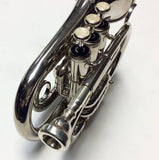 Cecilio PT-280 N Pocket Trumpet Nickel Plated With Case