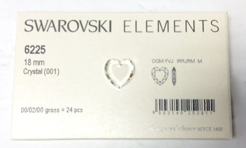 Swarovski Elements Crystal Heart Pendants 24 pcs