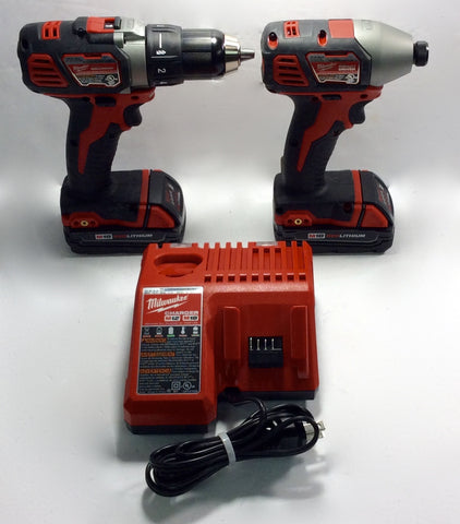 Milwaukee 2691-22 M18 Cordless 2-Tool Combo Kit Drill & Driver