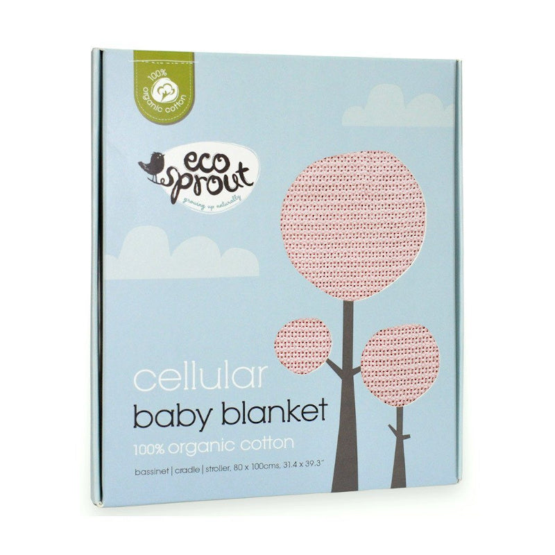 Organic Cotton Cellular Bassinet Blanket - Powder Pink