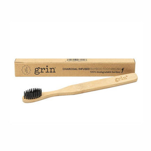 Natural Charcoal Infused Bamboo Brush