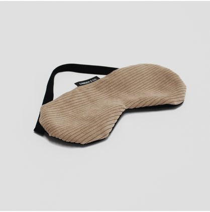 Nude Corduroy Sleep Eye Mask