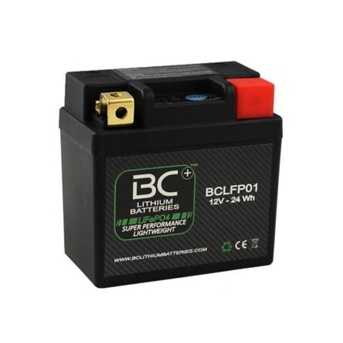 BC Lithium Batteries BCLFP01 Batteria Moto Litio LiFePO4, 0,4 kg, 12V, LFP01 - BC Battery Controller