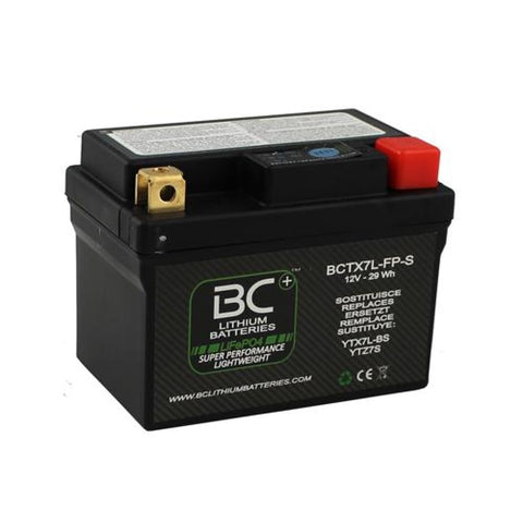 BC Lithium Batteries BCTX7L-FP Batteria Moto al Litio LiFePO4, 0,6 kg, 12V, HJTZ7S-FP / YTX7L-BS / YTZ7S / YTZ8V - BC Battery Controller
