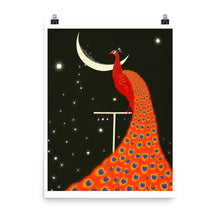 Load image into Gallery viewer, Generous Moon & Peacock Print