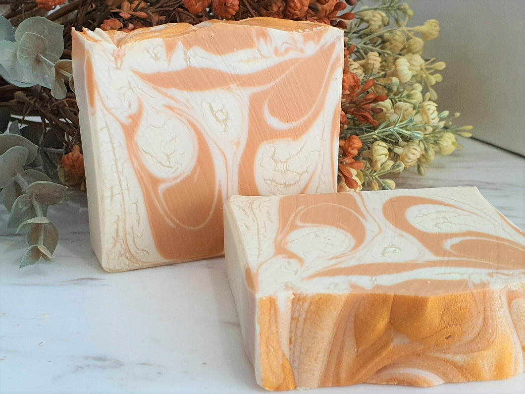Golden Swirl Cold Process Soap
