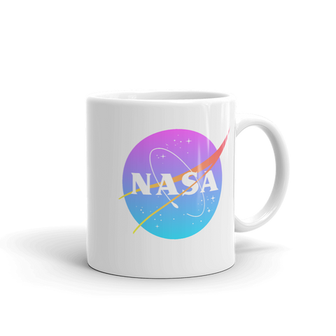 Synthwave Retro 80s NASA Logo Mug
