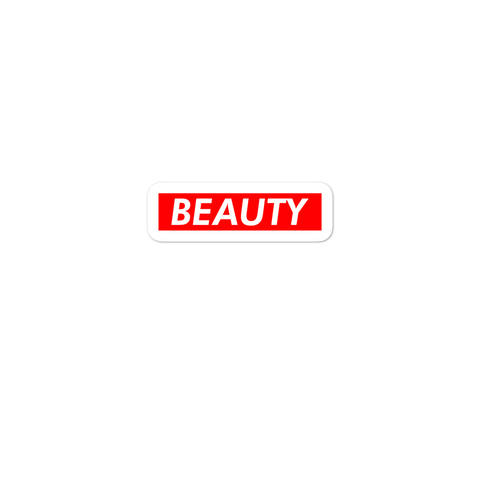 BEAUTY Red Box Logo Bubble-free Helmet Sticker