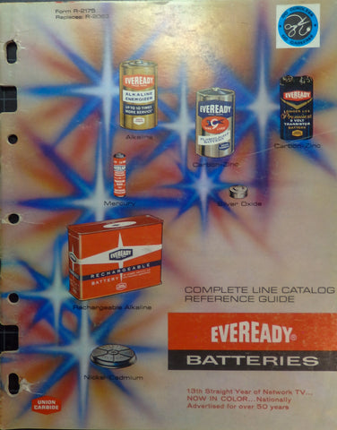 "Full Color, Illustrated Eveready ""Complete Line Reference Guide"""