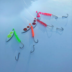 Signature Series White Blade Worm Harness Bundle