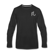 Load image into Gallery viewer, Flip Lures Long Sleeve T-Shirt w/ White Logo - black