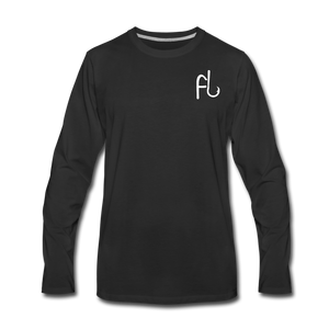 Flip Lures Long Sleeve T-Shirt w/ White Logo - black