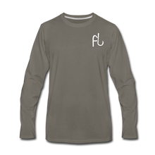 Load image into Gallery viewer, Flip Lures Long Sleeve T-Shirt w/ White Logo - asphalt gray