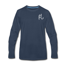 Load image into Gallery viewer, Flip Lures Long Sleeve T-Shirt w/ White Logo - navy
