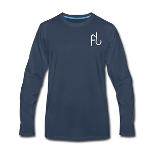 Flip Lures Long Sleeve T-Shirt w/ White Logo - navy