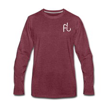 Load image into Gallery viewer, Flip Lures Long Sleeve T-Shirt w/ White Logo - heather burgundy
