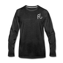 Load image into Gallery viewer, Flip Lures Long Sleeve T-Shirt w/ White Logo - charcoal gray