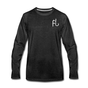 Flip Lures Long Sleeve T-Shirt w/ White Logo - charcoal gray