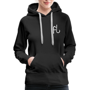 Flip Lures White Logo Women's Sweater - black