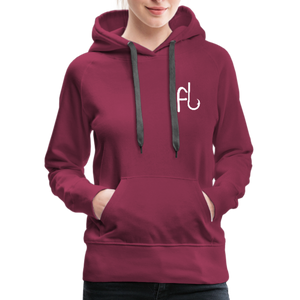 Flip Lures White Logo Women's Sweater - burgundy