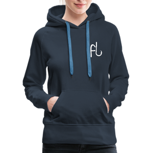 Flip Lures White Logo Women's Sweater - navy