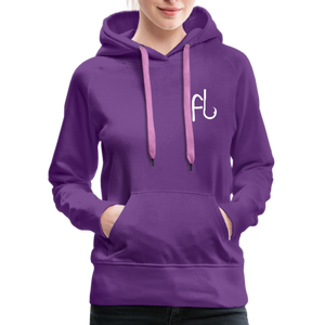 Flip Lures White Logo Women's Sweater - purple
