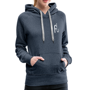 Flip Lures White Logo Women's Sweater - heather denim