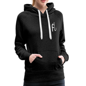 Flip Lures White Logo Women's Sweater - charcoal gray