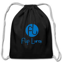 Load image into Gallery viewer, Flip Lure Drawstring Bag - black