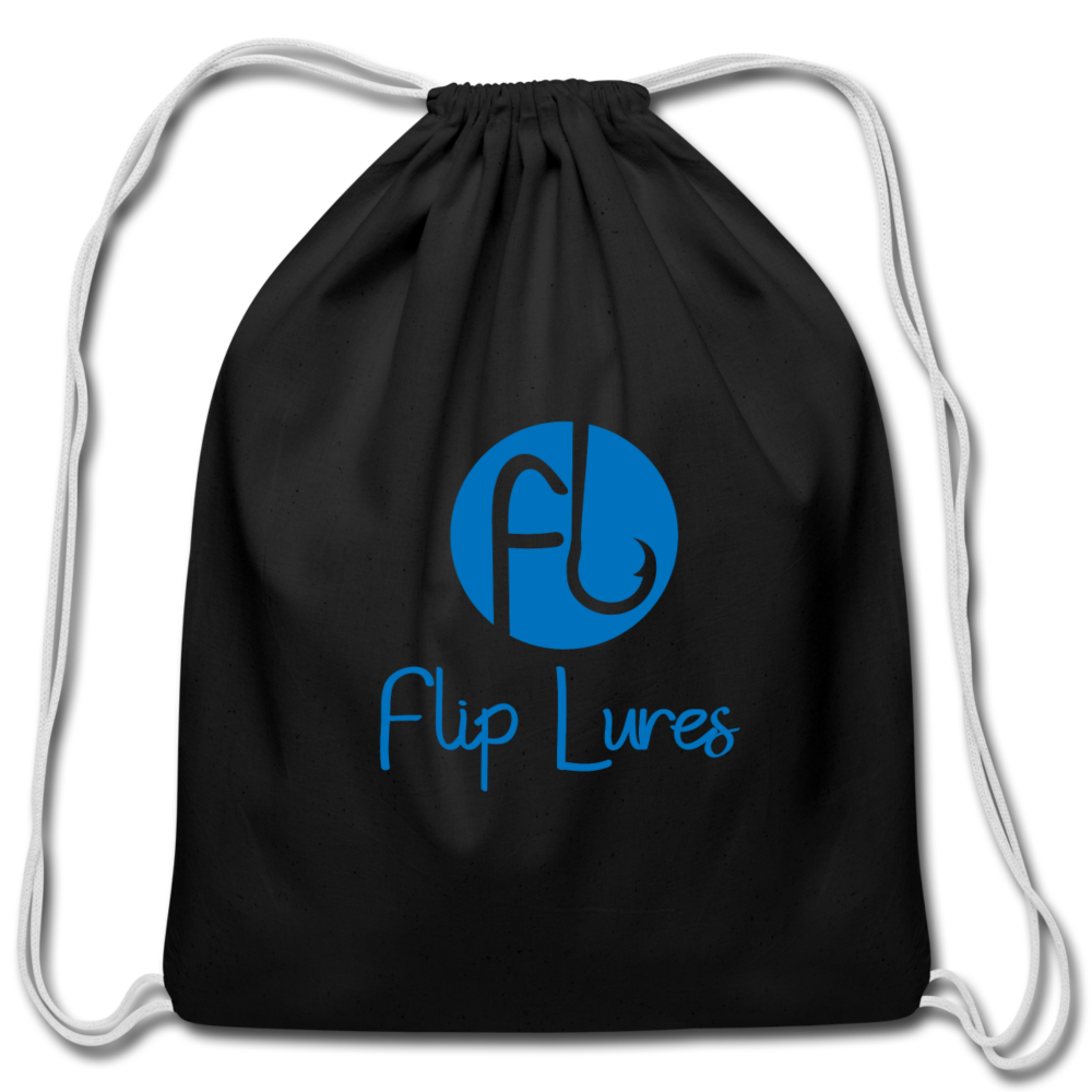 Flip Lure Drawstring Bag - black
