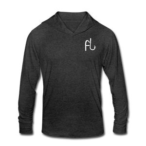 Flip Lures Unisex Tri-Blend Hoodie Shirt - heather black