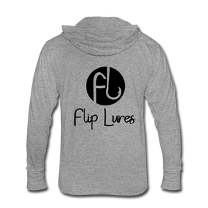 Flip Lures Unisex Tri-Blend Hoodie Shirt - heather gray