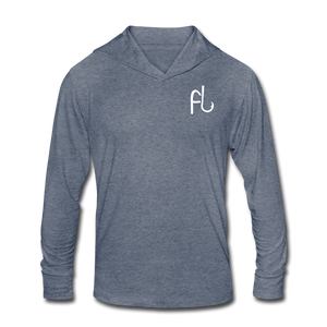 Flip Lures Unisex Tri-Blend Hoodie Shirt - heather blue