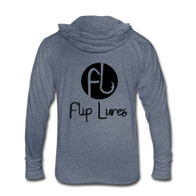 Load image into Gallery viewer, Flip Lures Unisex Tri-Blend Hoodie Shirt - heather blue