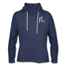 Load image into Gallery viewer, Flip Lures White Logo Unisex Lightweight Terry Hoodie - heather navy