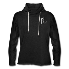 Load image into Gallery viewer, Flip Lures White Logo Unisex Lightweight Terry Hoodie - charcoal gray
